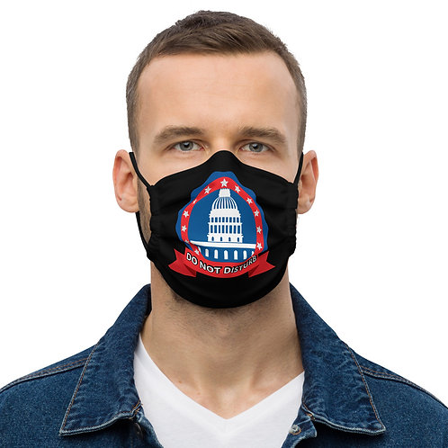 DO NOT DISTURB Black Face Mask