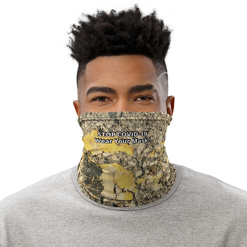 STOP COVID-19 - SPECKLED Gaiter Mask