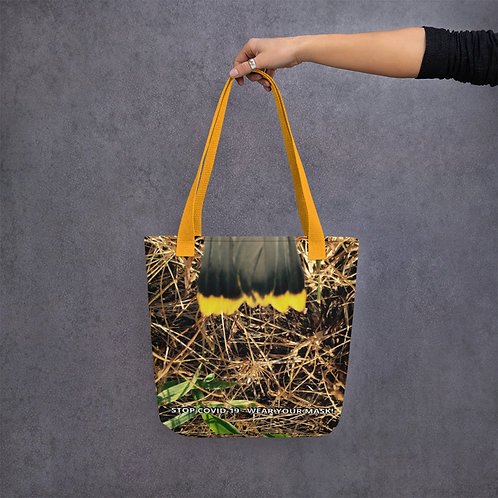 STOP COVID-19 - FEATHERED Tote Bag