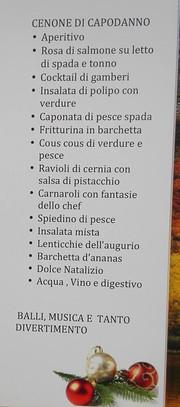 menu, ristorante lo Storione San Giovanni Gemini.