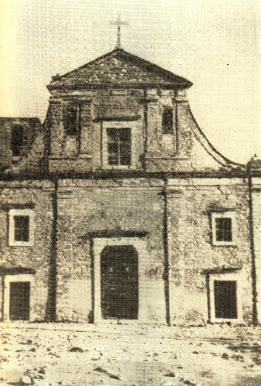 prospetto antico chiesa madrice di cammarata