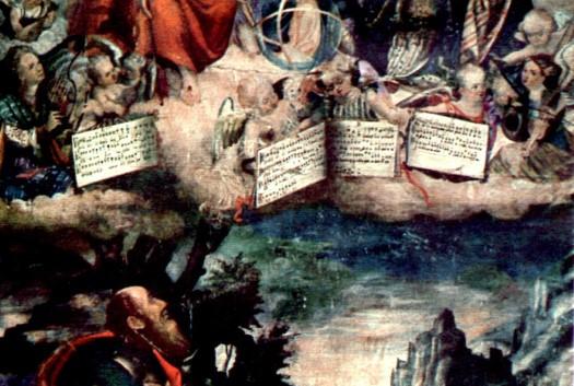 tela raffigurante la ss trinita opera di