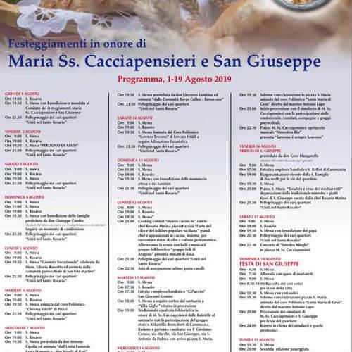programma 2019 maria santissima cacciape
