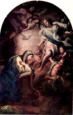 tela raffigurante l'annunciazione opera