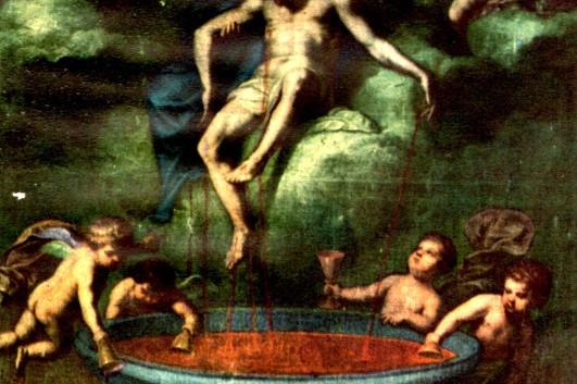 tela raffigurante cristo all agonia oper