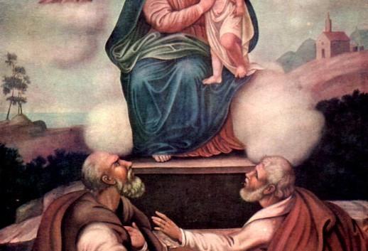 tela raffigurante la madonna dell itria