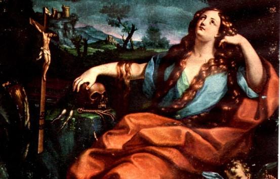 tela raffigurante la maddalena penitente