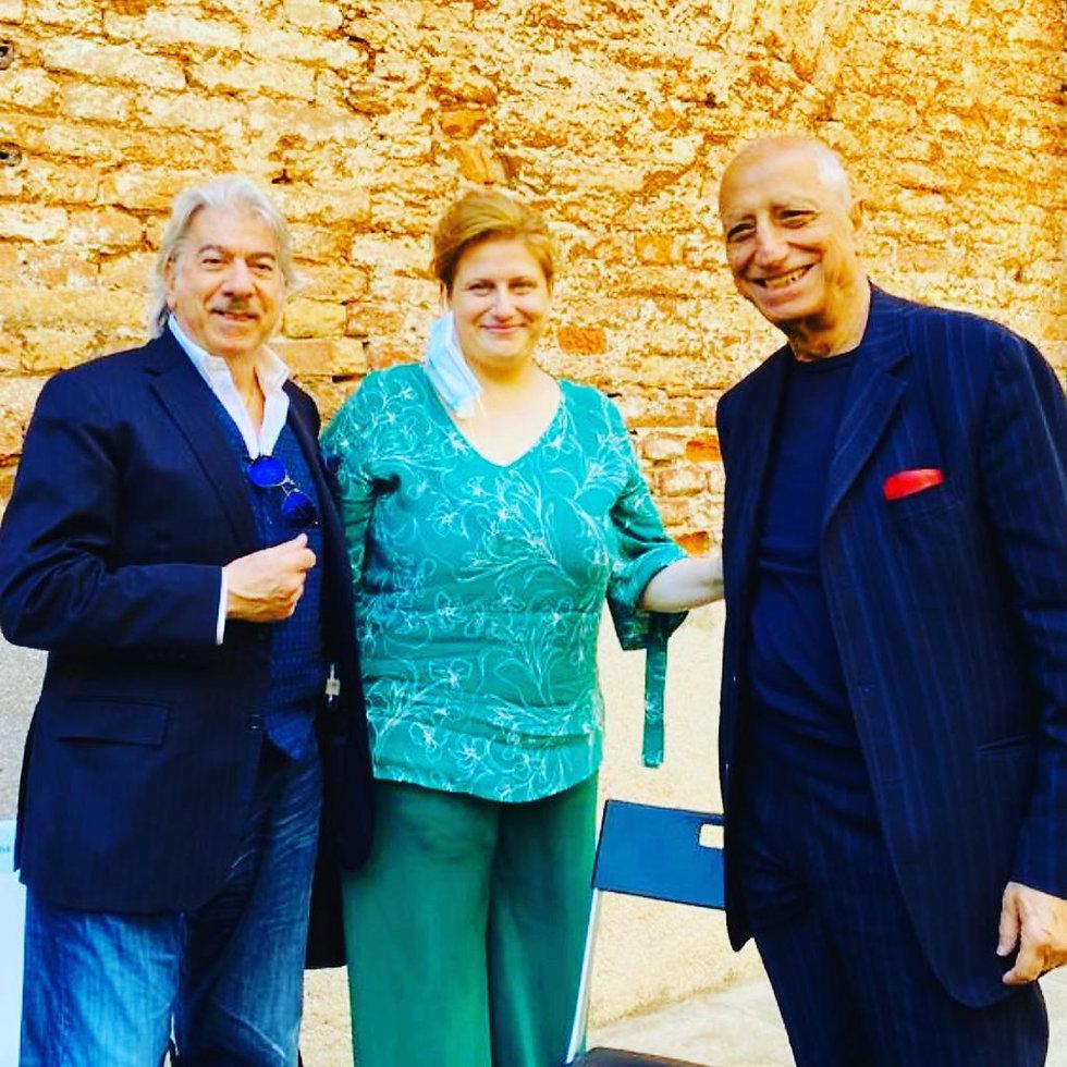 Irene Catarella con Marco Columbro e Pippo Franco