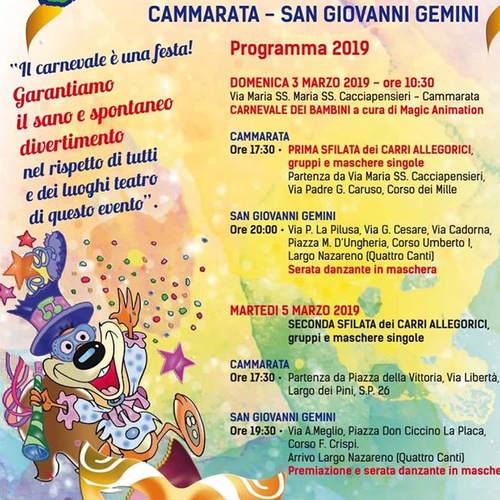 carnevale 2019 cammarata e san giovanni