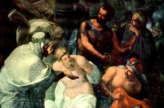 tela raffigurante il martirio dei ss cri