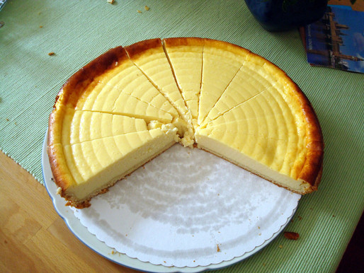 Our cheesecake from the Sicani mountains