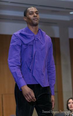 Purple origami shirt