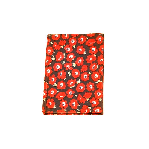 Red Poppy Cotton Notebook