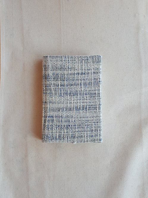 Navy, Green and White Wool Notebook