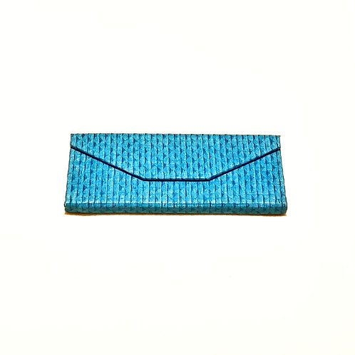 Turquoise Blue Textured Cotton