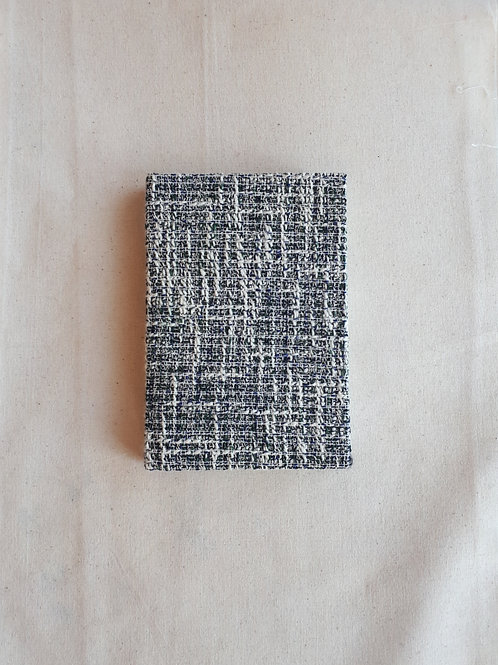 Navy Blue and White Notebook