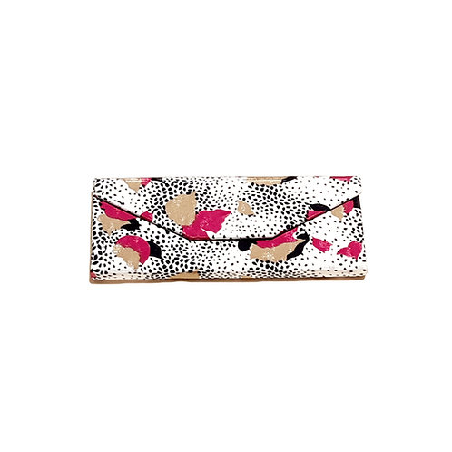 White, Pink and Black Printed Nylon