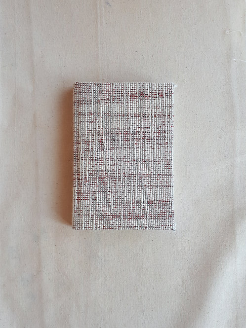 Red and White Wool Notebook