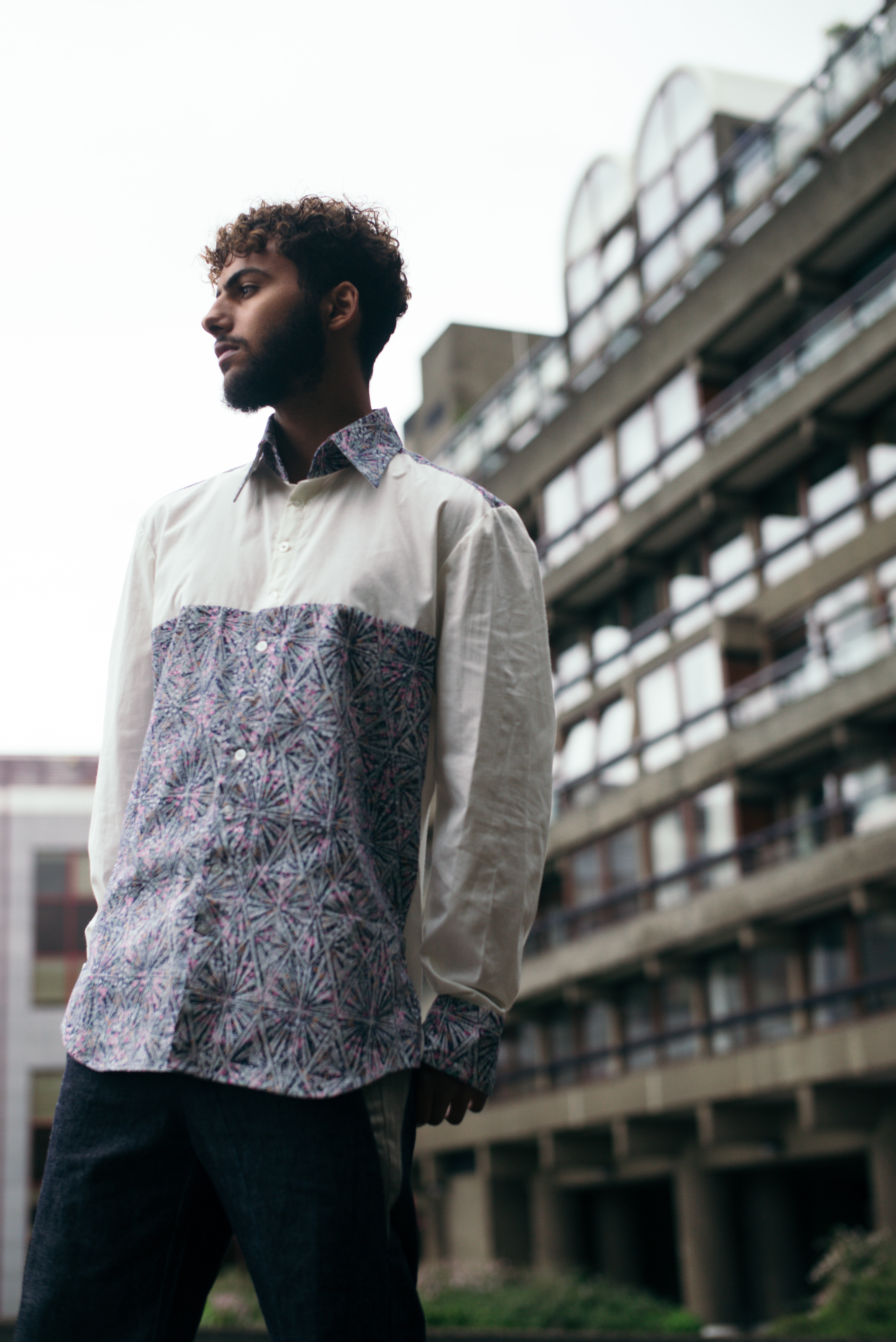 Ditsy print shirt