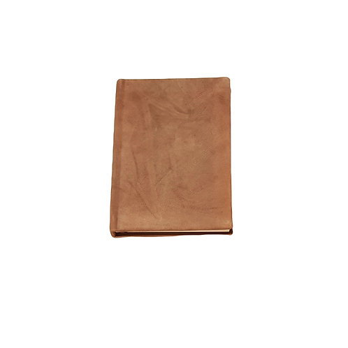Tan brown leather notebook