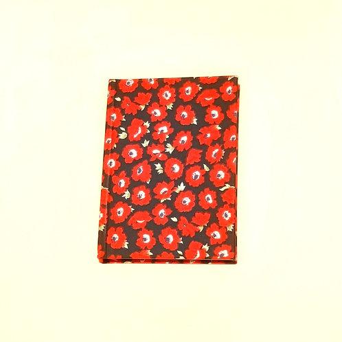 Red Poppy Cotton Notebook