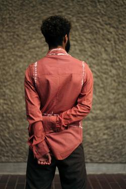Rust print shirt