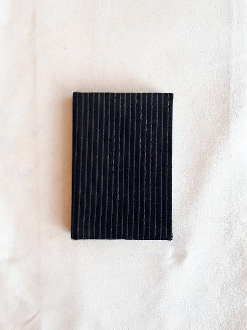 Velvet Black Stripe Notebook