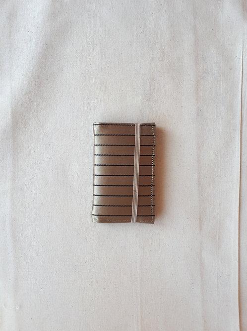 Gold satin pinstripe card wallet