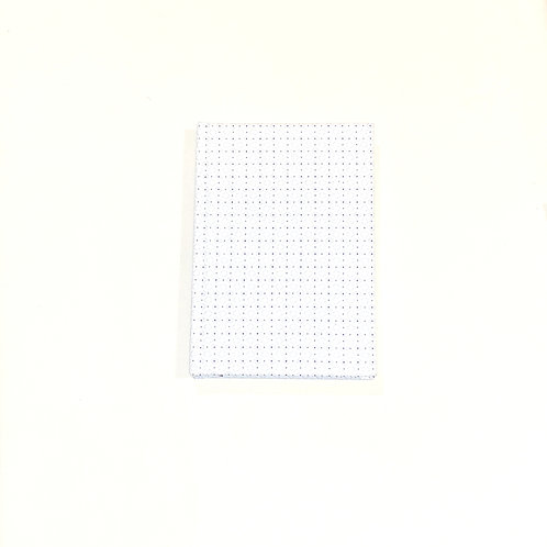White Dot Pattern Cotton Notebook
