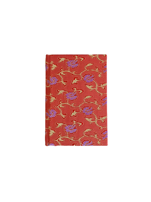 Red Chinese Silk Note Book