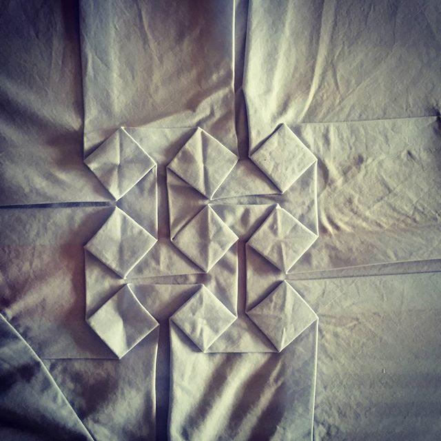 Midweek origami #CouchmanBespoke #instafashion #origami #cloth #menswear #catwalks