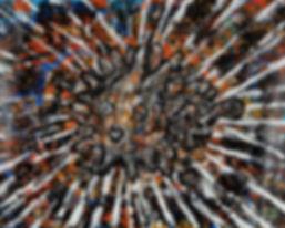 웹용, 고권, 가시복어, Acrylic on Jangji, 80 x 10