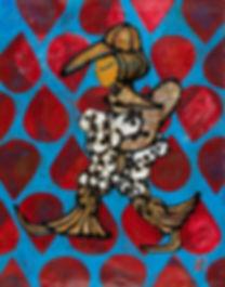 웹용, 고권, 개를 안고 가는 여자, Acrylic on Canvas,