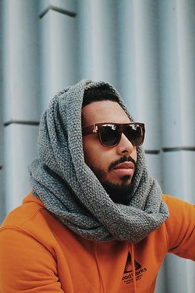 Omar Maji Ramirez Head Scarf glasses