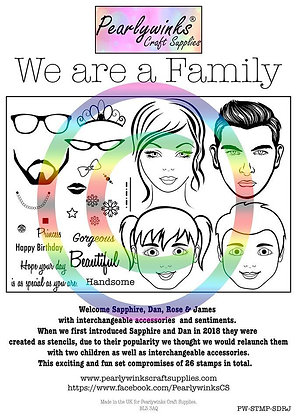We are a Family Stamp Set