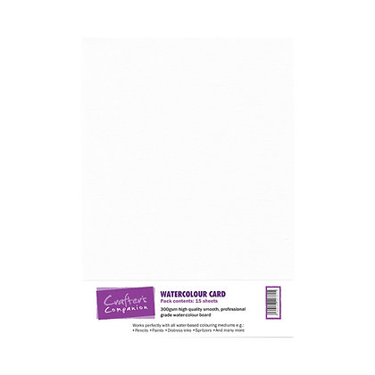Crafter's Companion Watercolour Card - 15 sheets