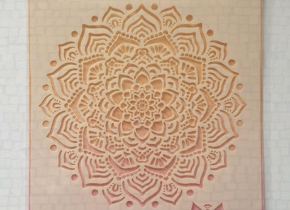 Love Every Moment Mandala Stencil
