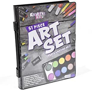 Kreative Kids 51 Piece Craft and Art Set