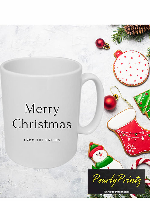 """Personalised """"Merry Christmas from..."""" Cup"""