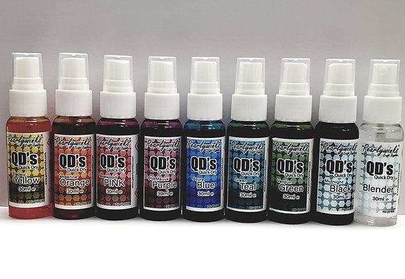 QD's Quick Dry's 30ml set of 9
