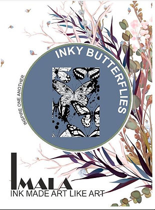 IMALA - A5 STAMP - INKY BUTTERFLIES