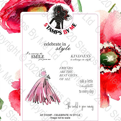 A5 STAMP - LAMINATION - CELEBRATE IN STYLE