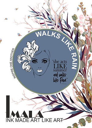 IMALA - A5 STAMP - WALKS LIKE RAIN