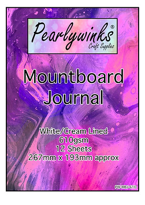 Pearlywinks 610gsm Mount Board Journal 267mm x 193mm (12 sheets)