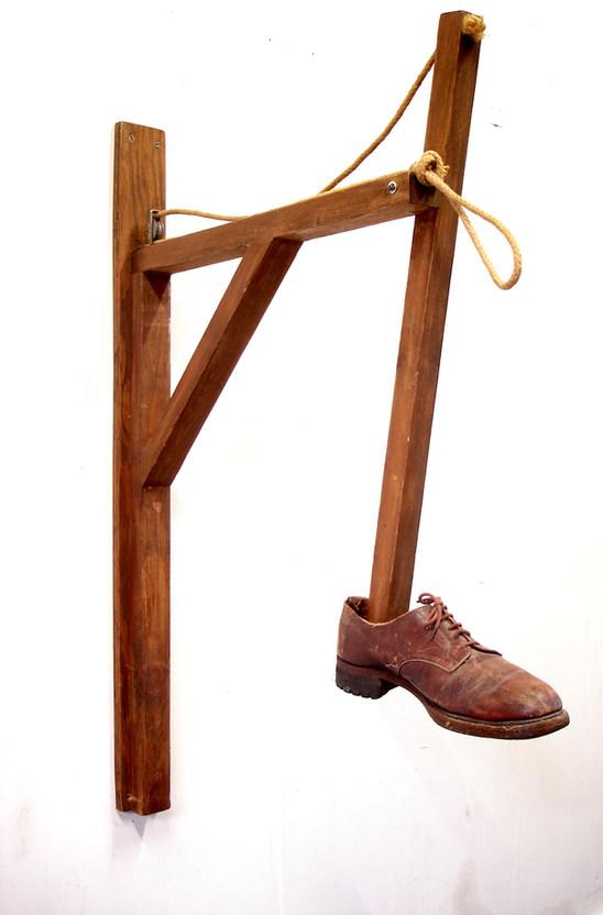 Kick yourself (brown shoe version)