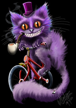 Purple_Cat_On_A_Bike_