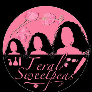Brief: Logo for FERAL SWEETPEAS - cosmetic & lifestyle product sales