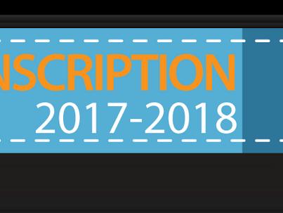 Inscriptions pour la saison 2017-2018