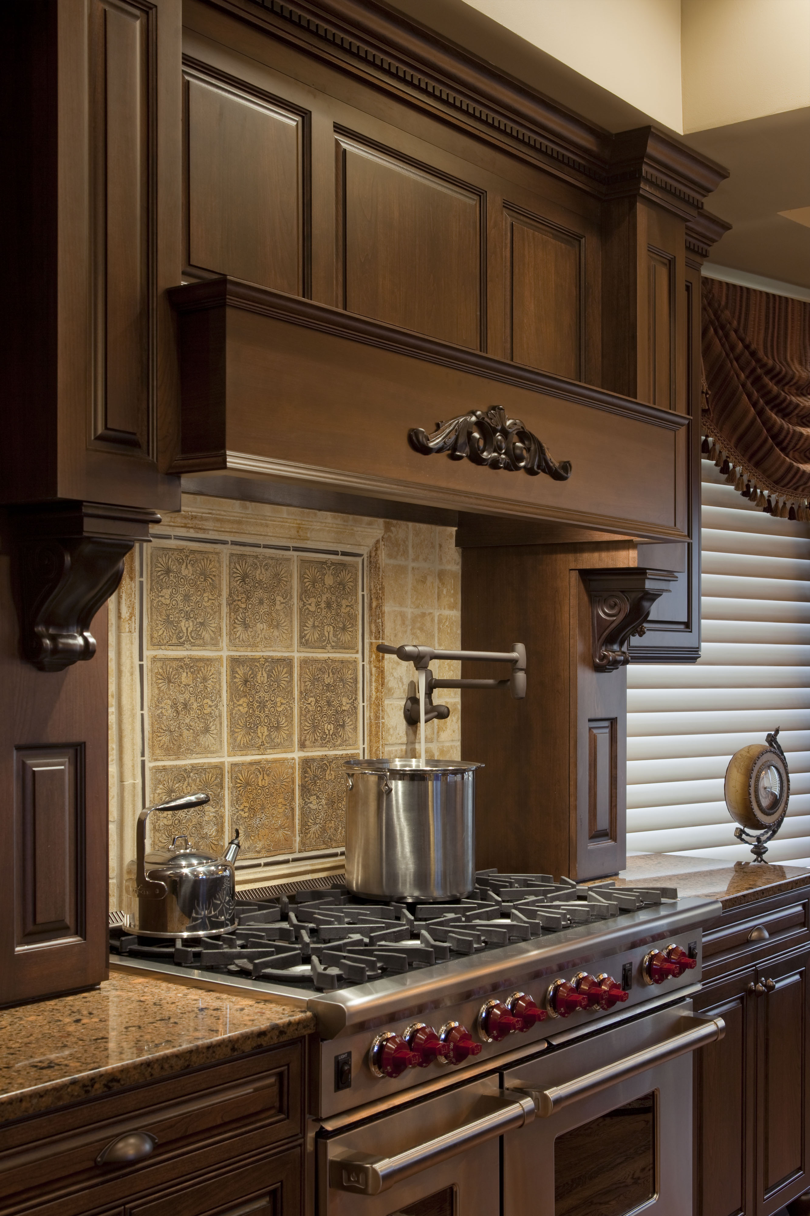 Traditional Kitchen Stove Top