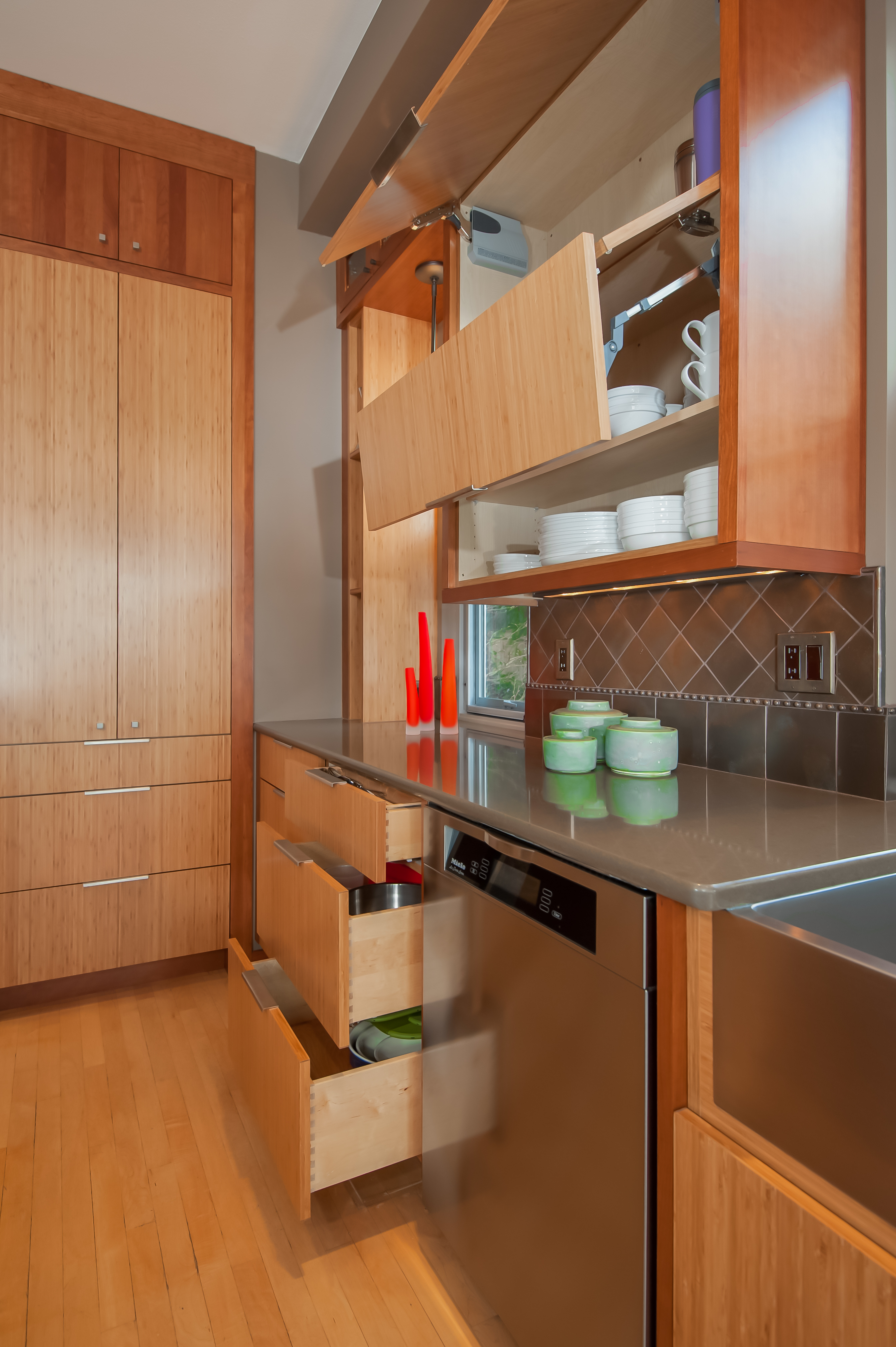 Asian Kitchen Open Drawers